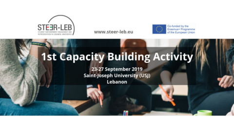 1st Capacity-Building Activity: Saint-Joseph University, Lebanon // 23-27  September 2019