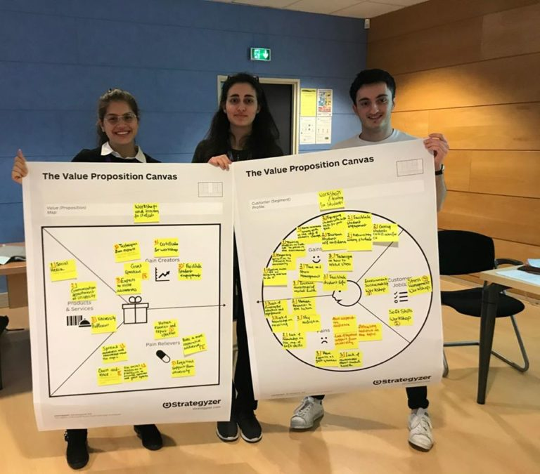 CB Rouen Communication Workshop canva team 4